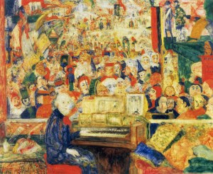 1933-James-Ensor-Ensor-in-its-workshop-or-Ensor-with-harmonium-